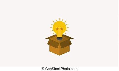 cardboard box and bulb light idea