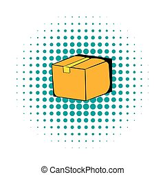 Cardboard box comics icon