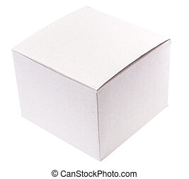 Cardboard box for packing on white background