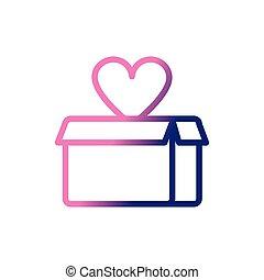 cardboard box, gradient style icon