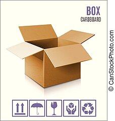 Cardboard box icon.
