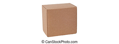 Cardboard box isolated on a white background.