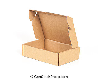 cardboard box , isolated on a white background.
