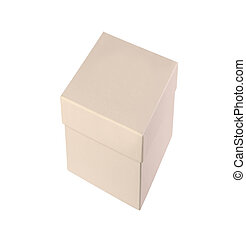 Cardboard Box isolated on a White