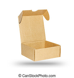 cardboard box isolated on white background