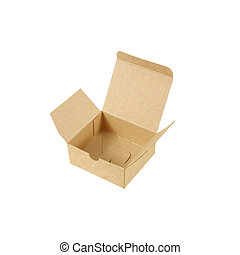 cardboard box, isolated on white background