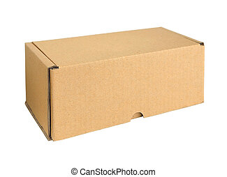 Cardboard box. Isolated on white background.