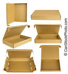 Cardboard box mockup set