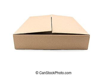 cardboard box on a white background.