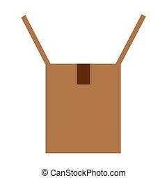 Cardboard box opened icon