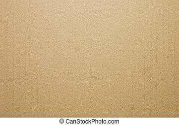 Cardboard box - The surface of the cardboard box.