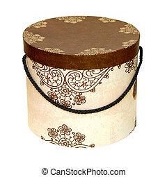 Cardboard box - Circle cardboard box with clipping path...