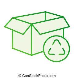 Cardboard box recycle flat icon. Paper box gray icons in trendy flat style. Package recycling gradient style design, designed for web and app. Eps 10.