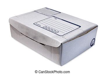 Cardboard Box - White Cardboard Box