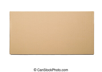 Cardboard box. - Closed cardboard box taped up and isolated...