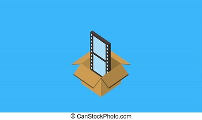 cardboard box storage film movie animation hd