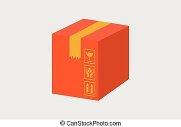 Cardboard box vector ,Carton container