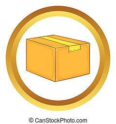 Cardboard box vector icon
