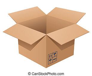Cardboard Box - Vector illustration of a cardboard box
