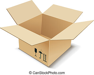 Cardboard Box. Vector illustration.