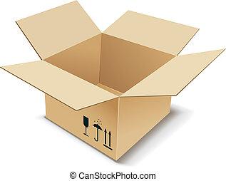 Cardboard Box. Vector illustration.