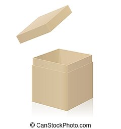 Cardboard Box With Extra Open Lid To Put On