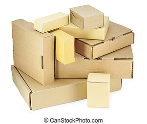 Cardboard boxes kit  isolated