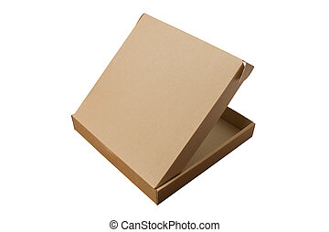 Cardboard boxes, on white background. Isolated