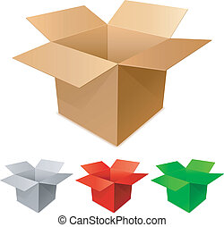Set of cargo cardboard boxes.