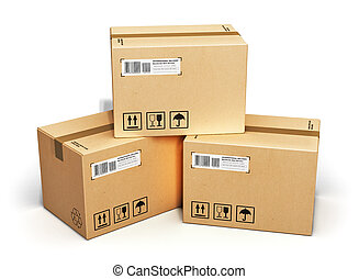 Cardboard boxes - Shipping, logistics and retail goods...