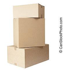 cardboard boxes stack package - stack of carton boxes post ...