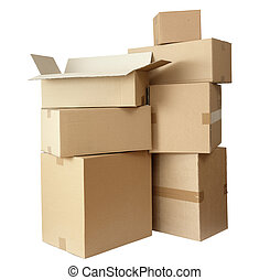cardboard boxes stack package