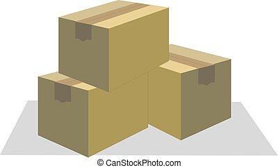 Cardboard boxes vector illustration eps 10