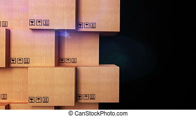 """""""Cardboard boxes with copyspace and matte channel"""" - """"3d..."""