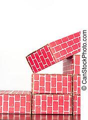 Cardboard Brick Columns