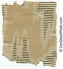 Cardboard - Corrugated cardboard.