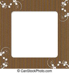 Cardboard Floral Frame