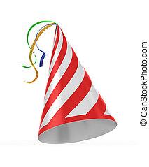 cardboard hat  3d illustration