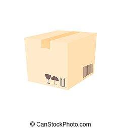 Cardboard icon in cartoon style