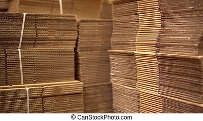 cardboard in warehouse - boxes in warehouse or factory...