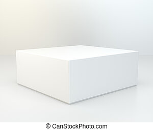 Cardboard on gray background.