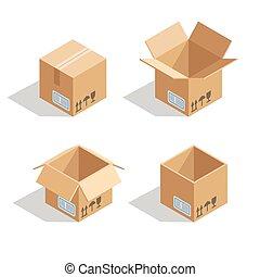 Cardboard open box
