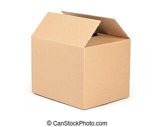 cardboard packaging box isolated on white background