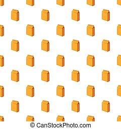 Cardboard packaging pattern, cartoon style