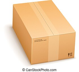 cardboard packing box closed for delivery isolated on ...