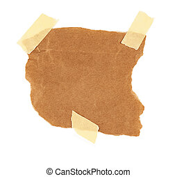 cardboard piece isolated on white background