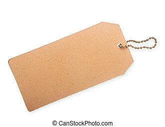Cardboard price tag