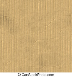 Cardboard - A corrugated cardboard texture with creases and...
