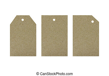 Cardboard tags for gifts. Holidays. Objects on white background