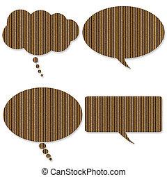 Cardboard Talk Bubbles